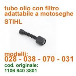 tubo olio adattabile a motosega Stihl