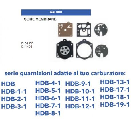 kit membrane e guarnizioni WALBRO D10-HDB