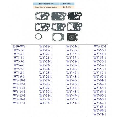 kit membrane e guarnizioni WALBRO D10-WZ