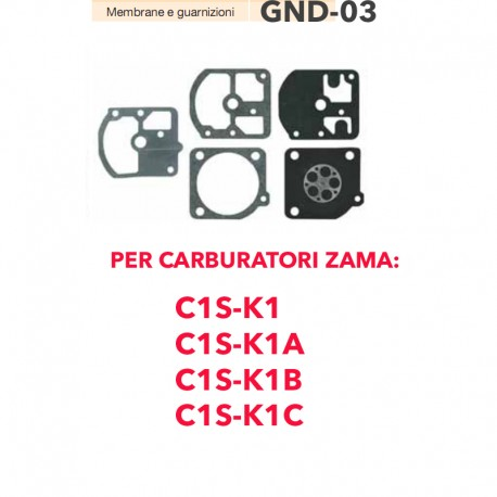 kit membrane e guarnizioni ZAMA GND-02