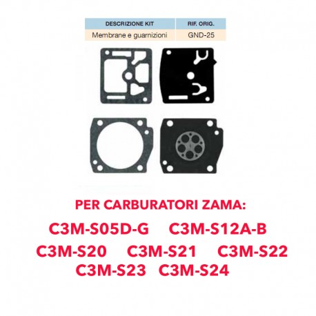 kit membrane e guarnizioni ZAMA GND-25