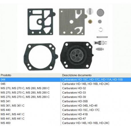 kit riparazione carburatore WALBRO STIHL motoseghe